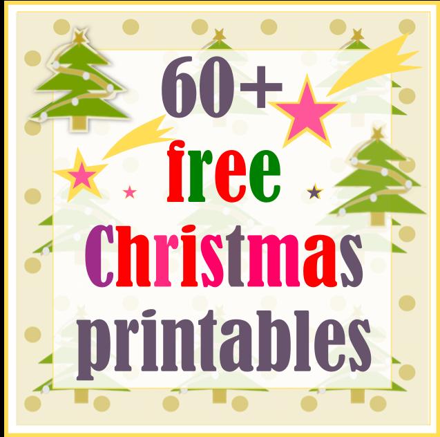 60+ free Christmas printables - kostenlos ausdruckbare Weihnachts ...