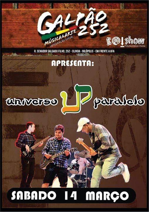 Cartaz da banda de Reggae Universo Paralelo