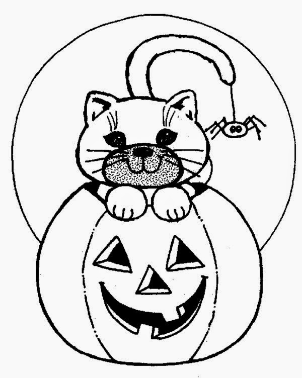 Happiness Celebrating Halloween With Halloween Coloring Pages ...