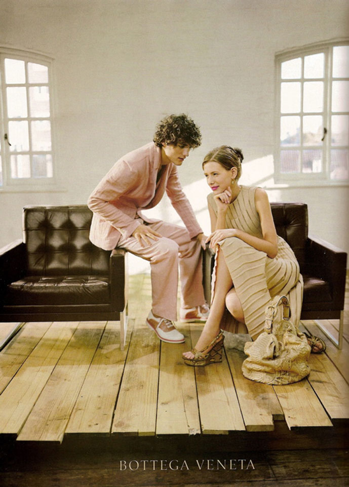 via fashioned by love | Alyona Asmatova & Thibaul Oberlin photographed by Sam Taylor for Bottega Veneta Spring/Summer 2008