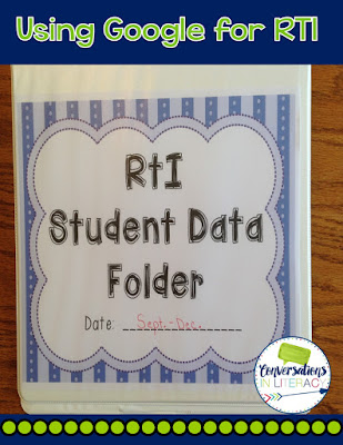 Using Google Drive for RTI graphs