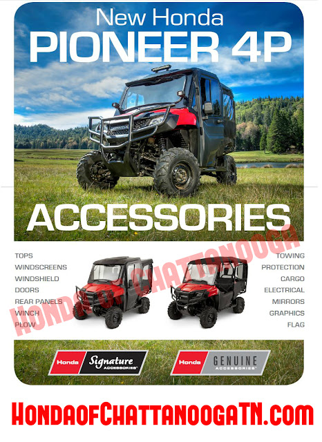 2014 Pioneer Accessories - 2014 Pioneer Winch Plow Cargo Safety LED Fog Lights Tops Windscreens Windshield Doors Honda of Chattanooga