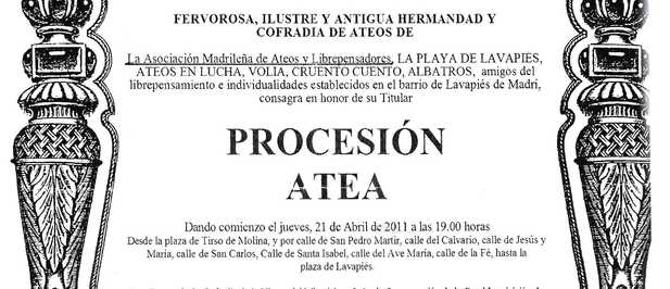 Madrid, 21 de Abril. Procesión Atea