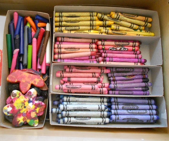 Almost unschoolers cereal box crayon caddy for Cereal organizer