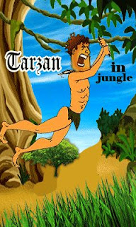 Screenshots of the Tarzan in jungle for java mobile, phone.