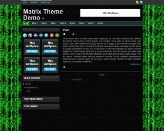 Matrix Blogger Template