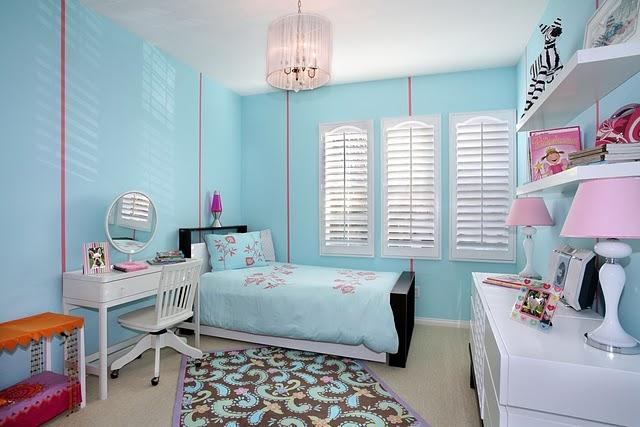 quarto infantil feminino azul Car Tuning ~ Quarto Rosa E Azul Tiffany