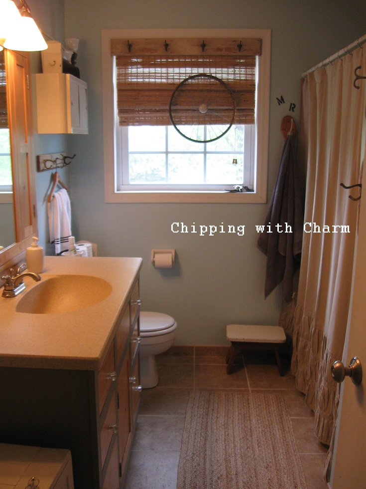 Chipping with charm our home tour creating collected for Megan u bathroom tour