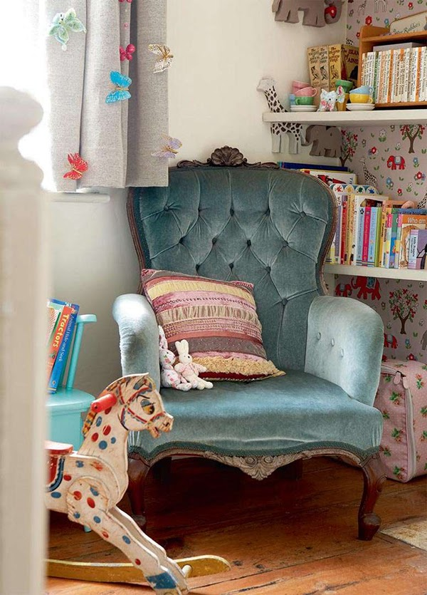 I love this vintage chair in the nursery