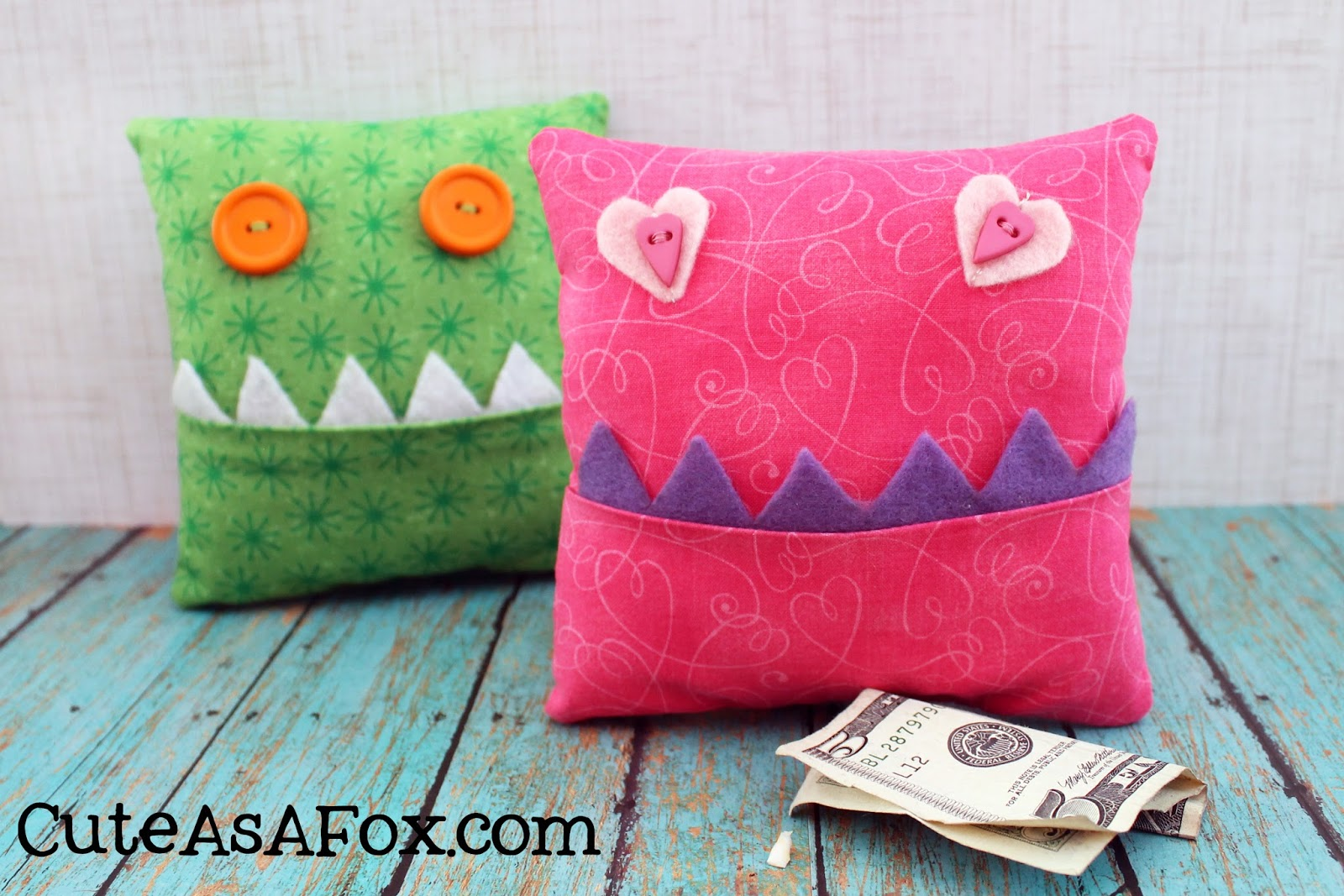 Cute Tooth Pillow : Tooth Fairy Monster Pillows