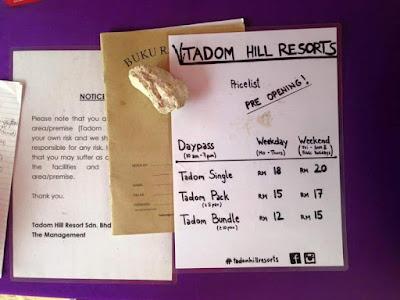 harga bayaran masuk Tadom Hill Resorts
