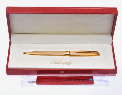 Dupont Olympio gold plated ballpoint pen, mai usata, in box