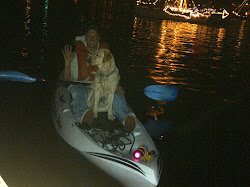 Buttercup & I Kayaking in Christmas Boat Parade