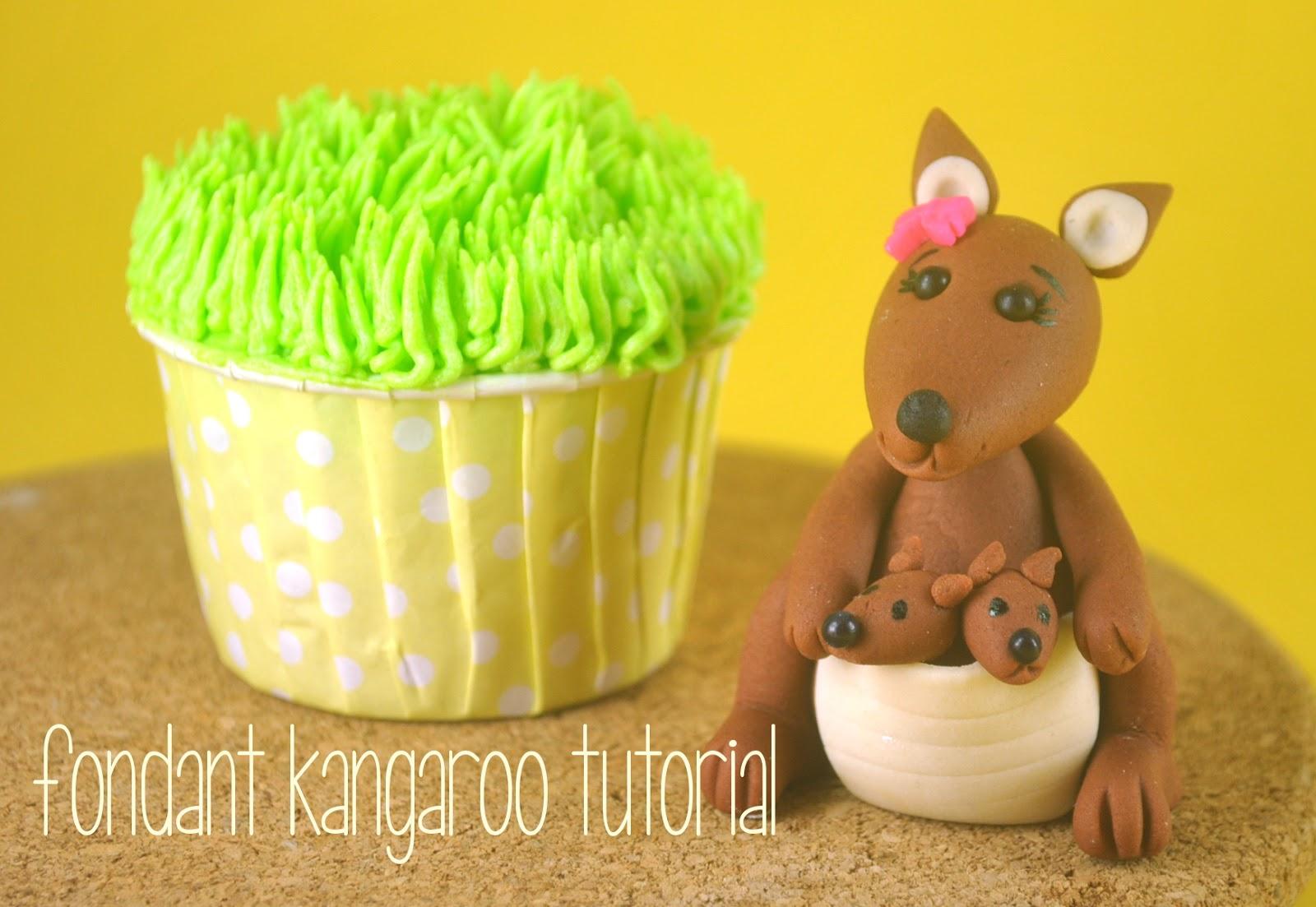 fondant kangaroo tutorial bake happy