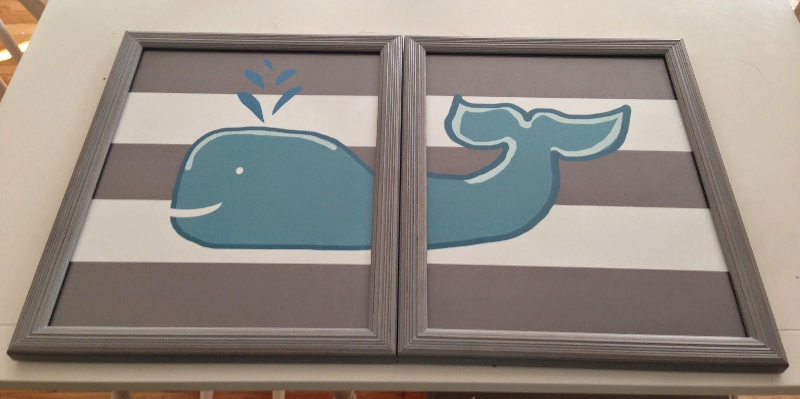 whale nursery, whale art, nursery art