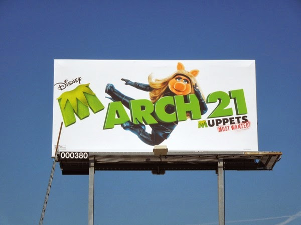 Muppets Most Wanted movie billboard