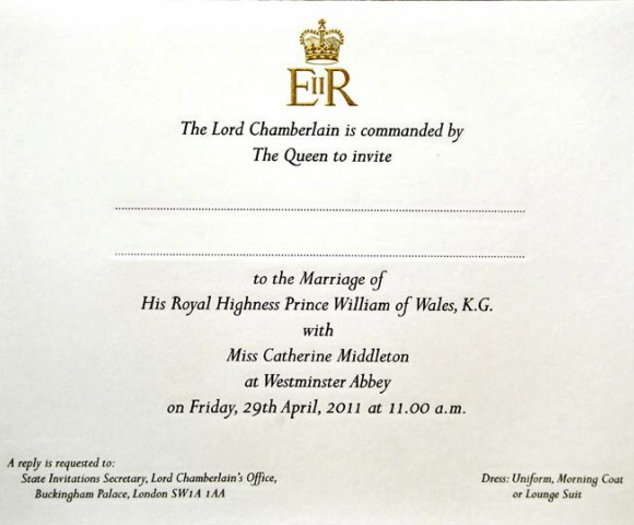 royal wedding invite 2011. 2011 royal wedding invitation.