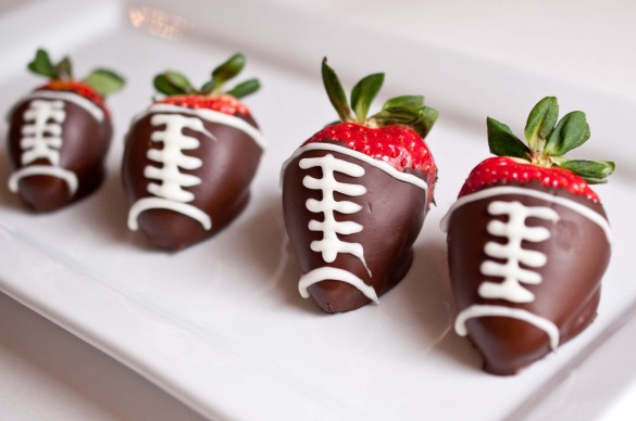... love these Chocolate Covered Strawberry Footballs by Domestic Fits