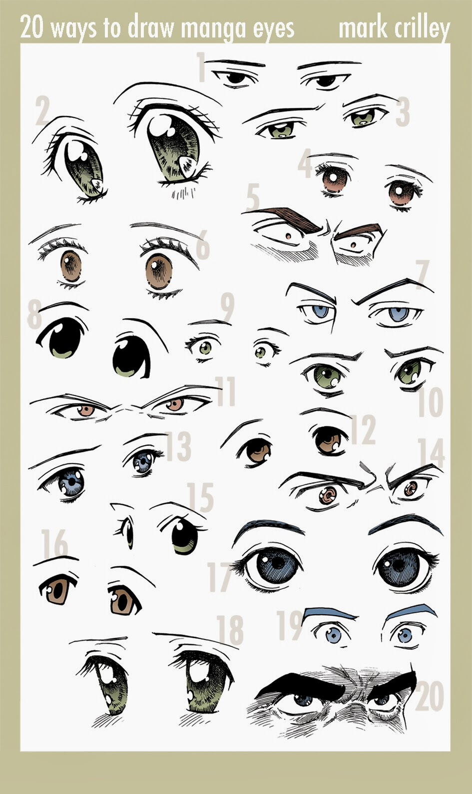 20 different ways to draw anime eyes draw anime