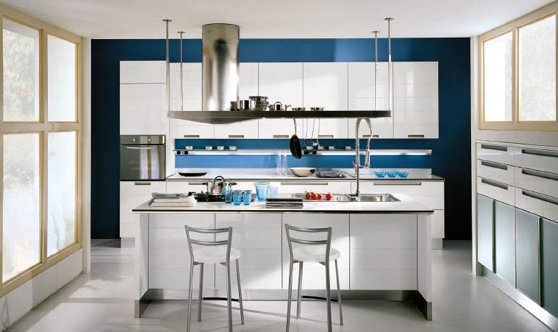 Decoração de cozinha azul