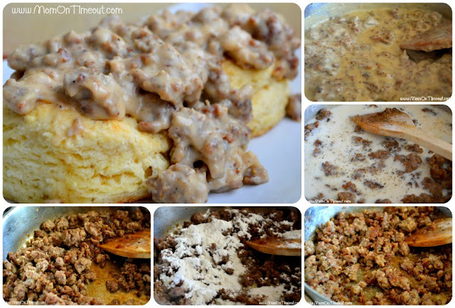 Simply Delicious Sausage Gravy from MomOnTimeout.com | This is my Nana's recipe for sausage gravy - it's simple to prepare and delicious!
