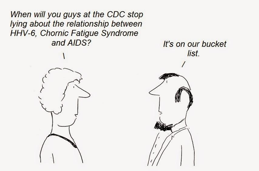 cartoon, cartoons, cdc, cover-up, hhv-6, cfs, chronic fatigue syndrome, aids, gallo, fauci, lipkin