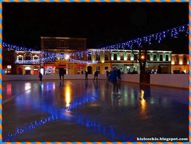 Sztuczne lodowisko na kieleckim Rynku