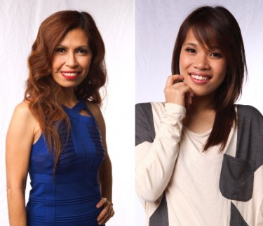 Klarisse de Guzman and Eva delos Santos - Team Sarah of The Voice of the Philippines