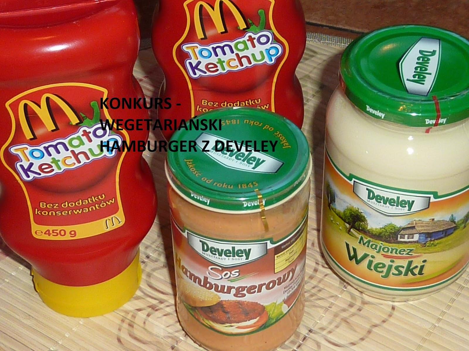Konkurs z Develey - wegetariańskie hamburgery