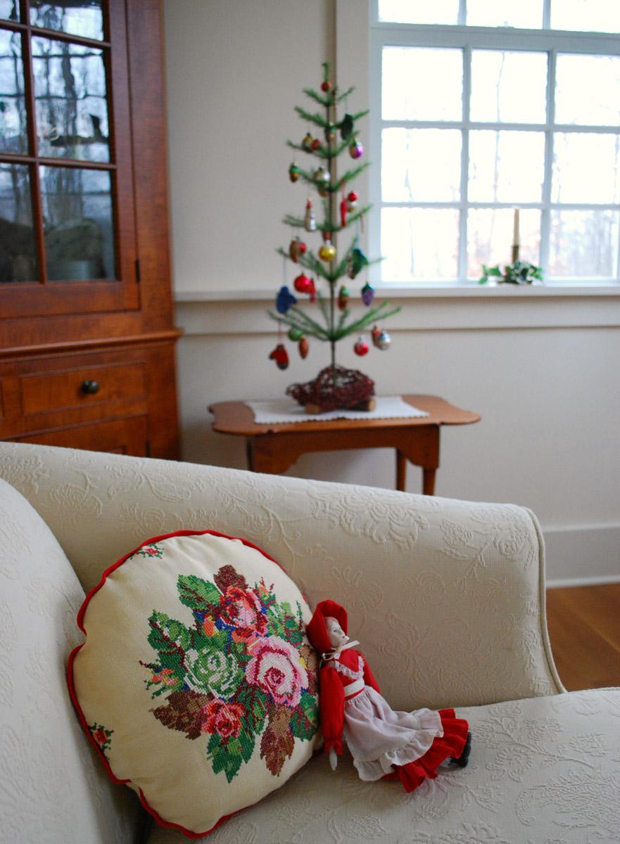 Christmas rose cross stitch