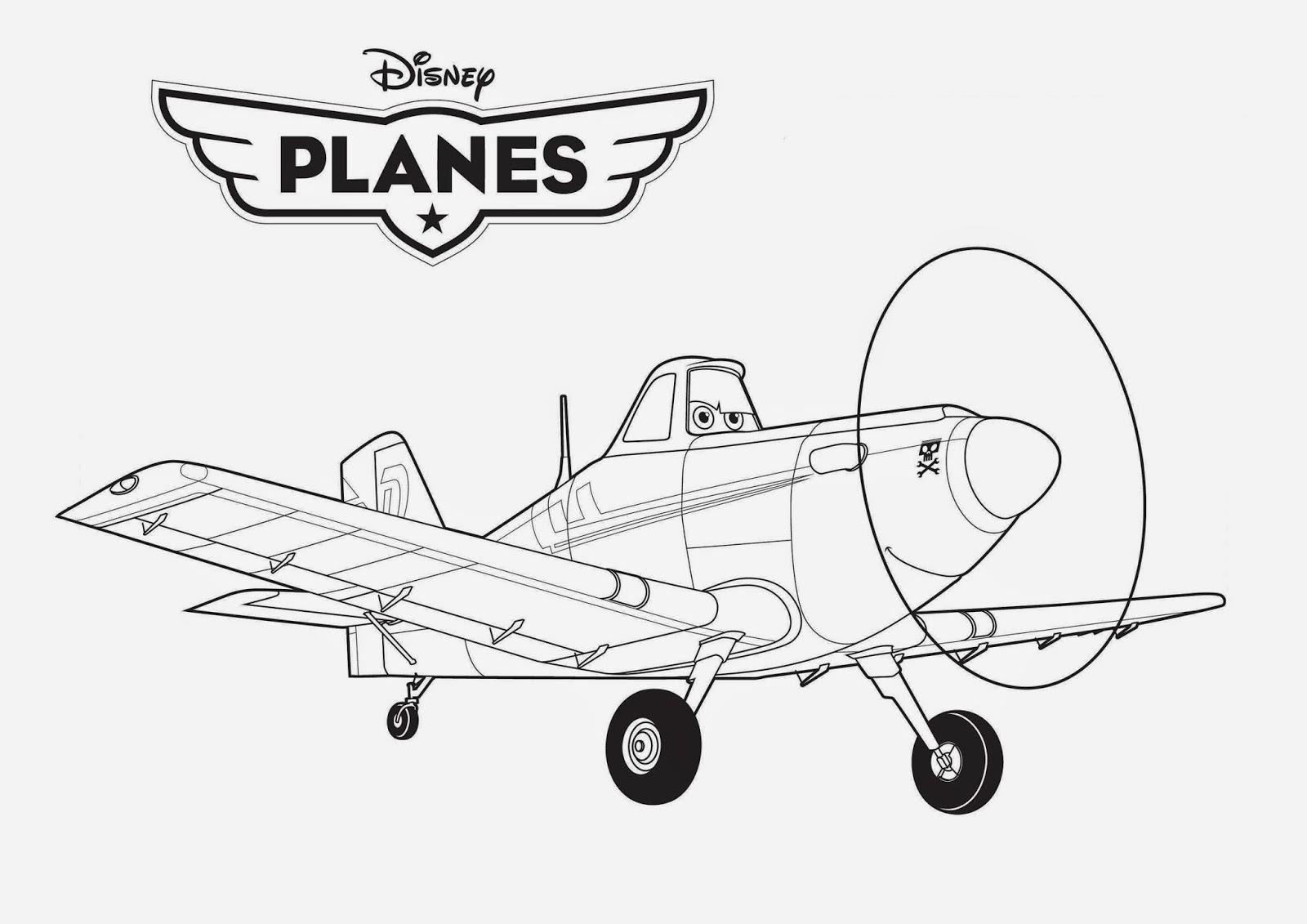 Disney Planes Coloring Drawing Free wallpaper