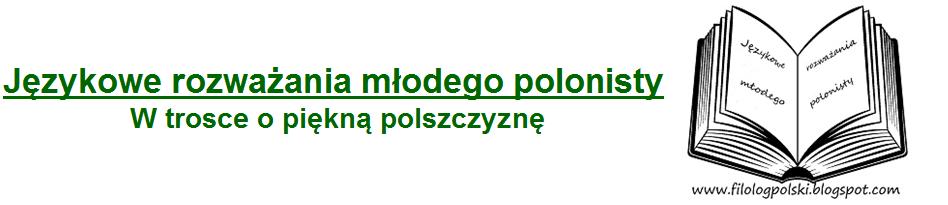 Językowe rozważania młodego polonisty