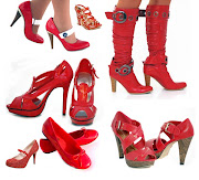All About Models Red Shoes