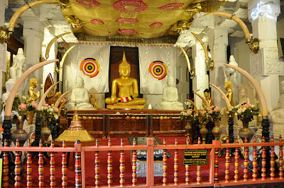 Inside view of Sacred Tooth Temple Srilanka