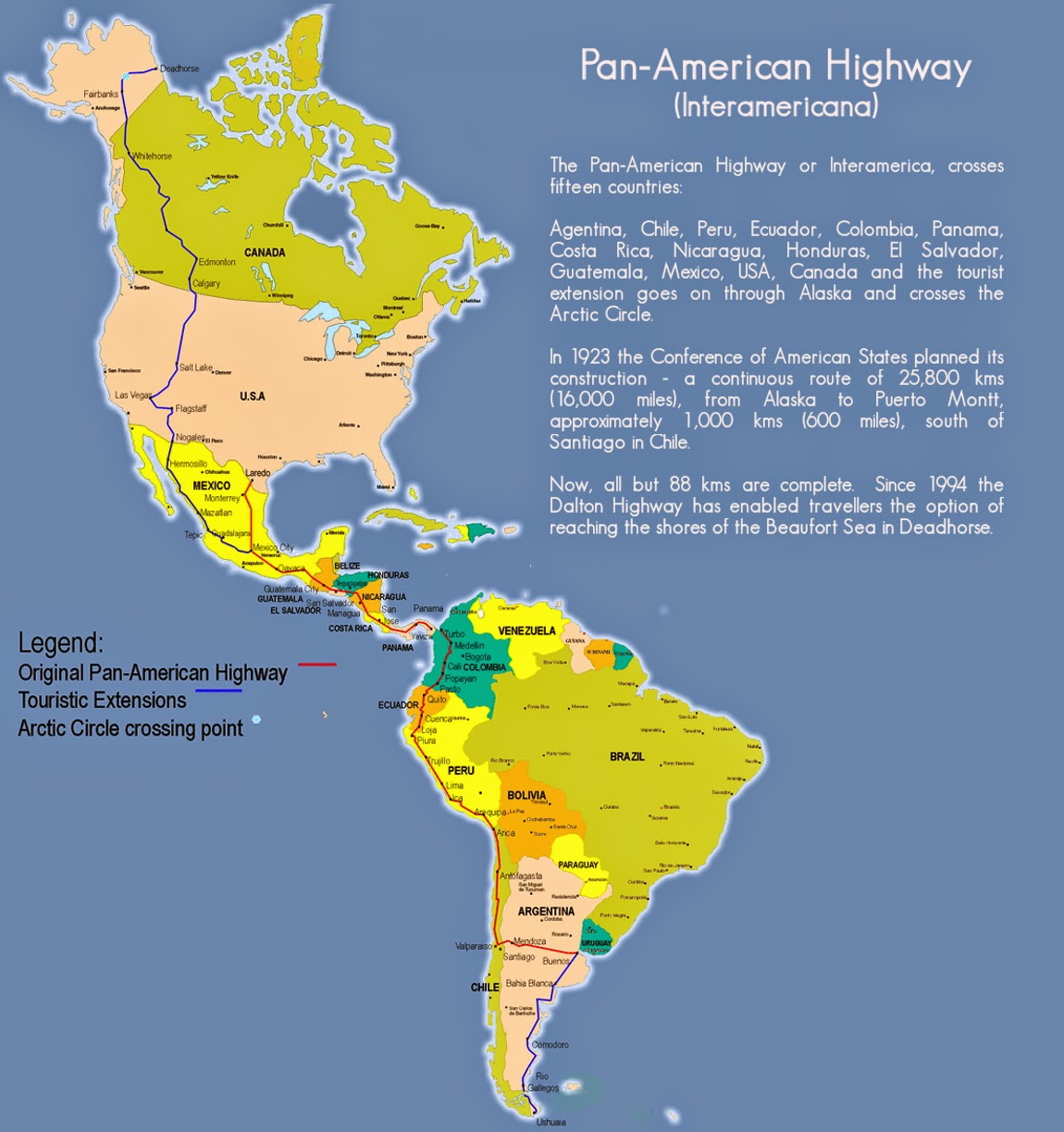 the pan american route