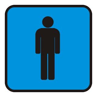 Pictograma de banheiro masculino