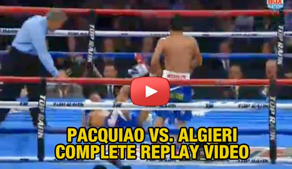 Manny Pacquiao Scores 6 Knockdowns, Decisions Chris Algieri (VIDEO)