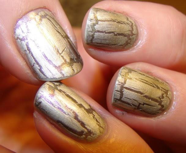 trend alert crackle nail art trend
