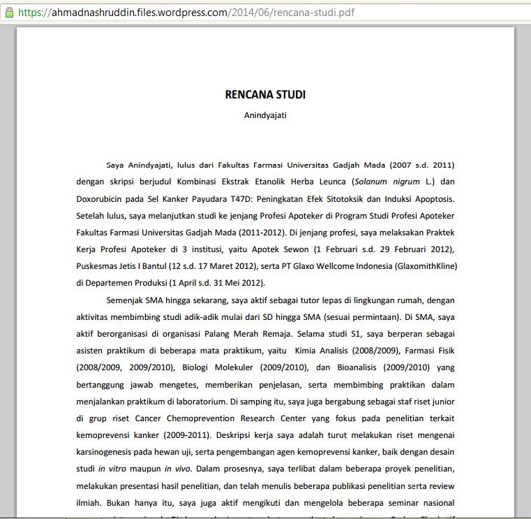 contoh essay rencana studi lpdp