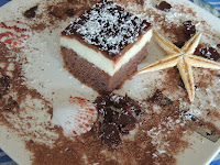 Chocolate cake with creamy filling