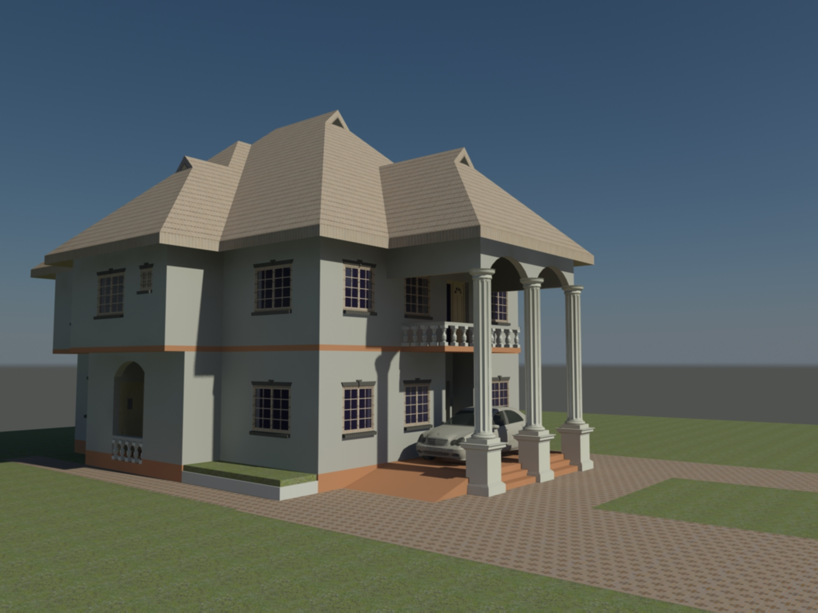Adiatu oluwafemi models my 3d models both autocad and for Revit architecture modern house design 1