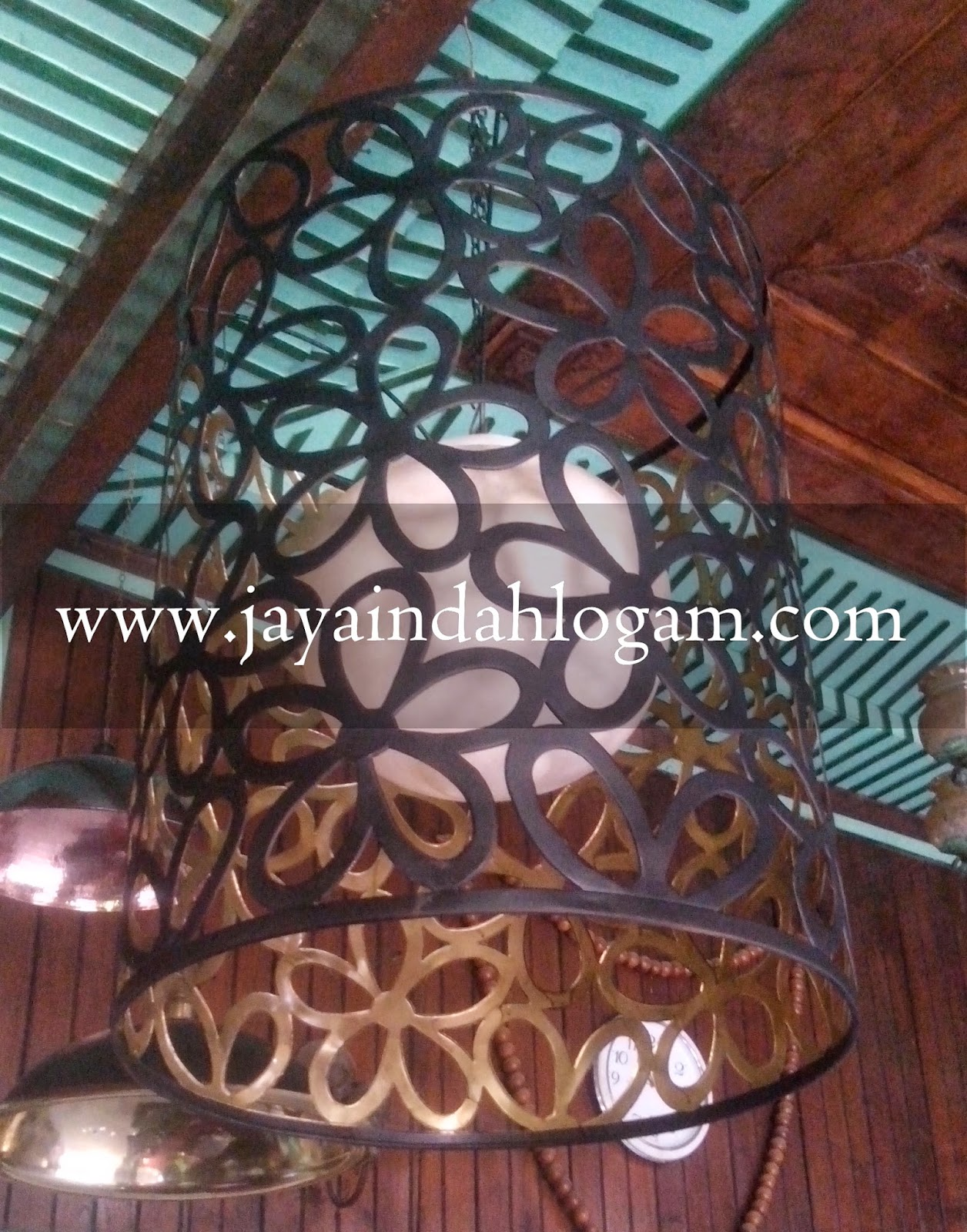 kerajinan lampu gantung tembaga kuningan jaya indah logam