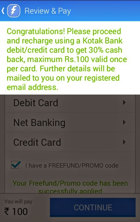 How To Apply Promo Code on Freecharge