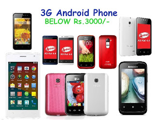 7 Android Phones with 3G Connectivity Below Rs. 3000