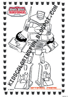 Transformers Optimus Prime Coloring Page Angry Birds Sketch