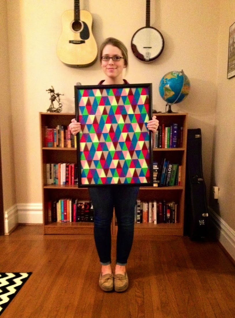 The Surznick Common Room: DIY Triangle Wall Art