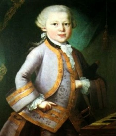 Young Mozart's Portrait: Mason Signs