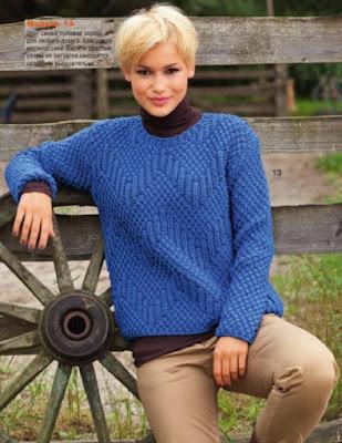 вязание спицами, пуловер,