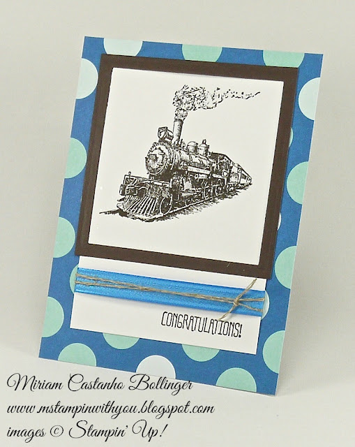 Miriam Castanho Bollinger, #mstampinwithyou, stampin up, demonstrator, dsc, masculine card, congratulations, schoolhouse dsp, traveler stamp set, something to say stamp set, big shot, squares collection, su