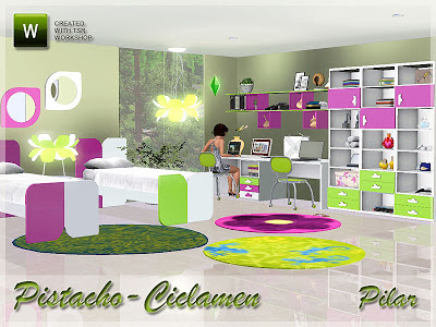 15-01-13 Bedroom Pistacho-Ciclamen